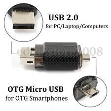 32GB USB 2.0 Dual Port Pen Drive Flash Memory Stick Thumb Disk For OTG Phone PC