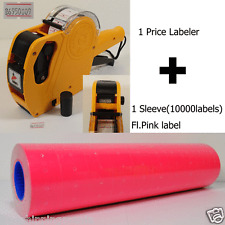 8Digits Price Gun Labeler Mx-5500 + 10000 Labels (Pink) +Free Ink