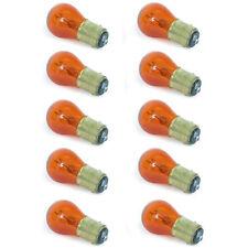 #1157 Amber Stock Tail Light Rear Brake Stop Turn Signal Lamps Bulbs Box Of 10