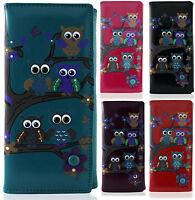 Owl On Branches Pattern Large & Medium Ladies Womens Girls Purse  Wallet
