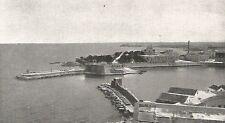 D0707 Trani - Il Porto visto dal Campanile - Stampa d'epoca - 1929 old print