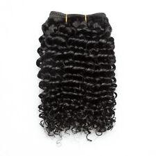 "8"" 50g Virgin 100% Brazilian Kinky Curly Hair Weave Human Hair Extension"