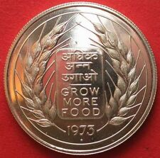 REPUBLIC INDIA FAO - GROW MORE FOOD (YEAR 1973) - 10 RUPEE SILVER COIN