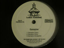 """LORD FINESSE GAMEPLAN b/w ACTUAL FACTS 12"""" ORIG '96 WHITE LABEL PROMO RAP VG/VG+"""