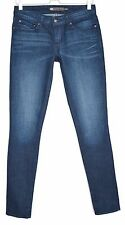 Ladies Womens Levis SKINNY Demi Curve Blue INDIGO Stretch Jeans Size 8 W27 L32
