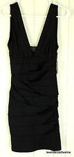 XXi S Black Sexy Stretch Bandage Club Wiggle Body Con Mini Cocktail Dress NEW