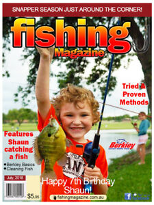 Fishing Magazine Your Photo Edible Icing Image Cake Topper Party Decoration