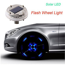 SHiZAK 12 LEDs Solar Flash Wheel Light 4 Modes Color for Car Vehicle Auto Decora