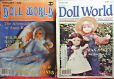"Two ""National Doll World"" Magazines - Back Issues- Feb. & Oct. 1986!"