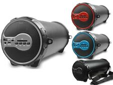 Axess SPBT1038 Indoor/Outdoor Rechargeable Cylinder Speaker+Bluetooth 2.1+USB/SD