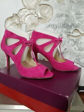Violet & Red Cassandra hot pink suede womens shoes size 7.5