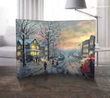 "Thomas Kinkade (A Christmas Story) Curved Acrylic Free-Standing Art 10""x7"""