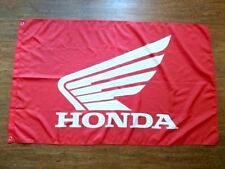 HONDA MOTORCYCLES RED WHITE 3X5FT GARAGE MANCAVE SHADOW GOLD WING FURY INTERSTAT