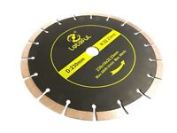 "230MM 9"" DIAMOND CUTTING DISC ANGLE GRINDER BLADE STONE BRICK CONCRETE TILE UK"