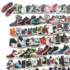 100 sneaker basketball sports shoes vinyl stickers window decals