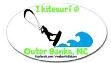 "I Kitesurf @ Outer Banks, Nc Bumper/Window Sticker Oval 3"" X 5"""