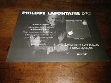 PHILIPPE LAFONTAINE - Petite Publicité de magazine / Advert D'ICI !!!!!!!