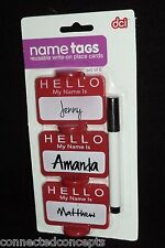"""Reusuable Write-On """"HELLO My Name is..."""" Name Tag Place Cards from DCI (33117)"""
