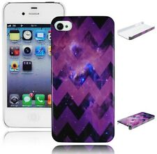 Purple Star Galaxy Nebula Chevron Hard Case Cover for iPhone 4/4S