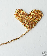 10 feet Chain gold plated 3x4mm oval cable CH003