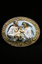 Holy Family Joseph Jesus Mary Wall Plate Plaque Statue Catholic Made in Italy