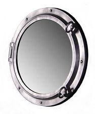 "24"" Aluminum Fiberglass Resin Porthole Mirror Nautical Tropical Home Mount Wall"
