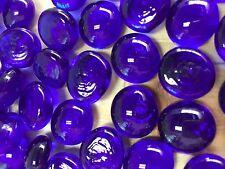M Deep Blue Glass Gems, Marbles, Nuggets, Pebbles (1Lb)
