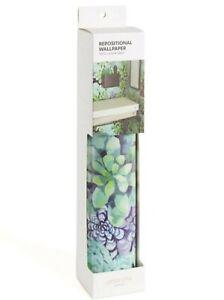 """Blue Green Repositional Wallpaper Locker Style Ubrands 1) 60"""" x 11.75"""" Sheet"""