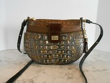 New BRAHMIN Vanessa FALL TORTOISE COSIMO Leather Crossbody $235