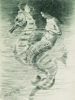 FREDERICK STUART CHURCH AMERICAN MERMAID OLD ART PAINTING POSTER BB5372A