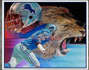 NFL Detroit Lions ART Color Print Poster REPRINT 8 X 10 Photo Pic