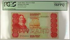 (1984) No Date South Africa 50 Rand Bank Note SCWPM# 122a Choice 58 PPQ (A)