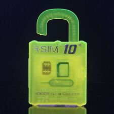 Yellow R-SIM10+ Plus RSIM Nano Cloud Unlock Card For iPhone 5/6/7/8 Series