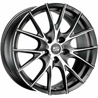ALLOY WHEEL MSW 25 LEXUS UX 8x18 5x114.3 ET 45 MATT TITANIUM FULL POLISHED e86