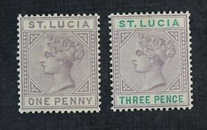 CKStamps: St. Lucia Stamps Collection Scott#29a 32a Mint H OG