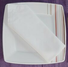 Serviette 6 Stück Stoffserviette mit Hohlsaum weiß 40cm x 40cm