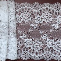 """*New Arrival*  65mm//2.5/"""" Iridescent White Nottingham Frilled Gathered Lace."""