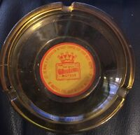 Vintage Best Weather Motels Amber Glass Round Ash Tray Ashtray