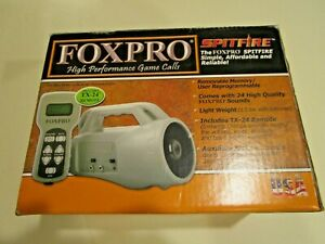 Foxpro Spitfire Game Call in Box W/ TX-24 Remote and Instruction Manual