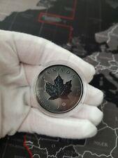 1oz .999 silver - 2020 Canadian Maple Leaf - Ruthenium ! Special Bullion ! MSB.