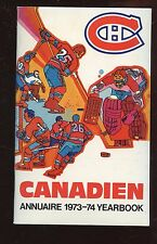 1973/1974 NHL Hockey Montreal Canadians Yearbook EXMT