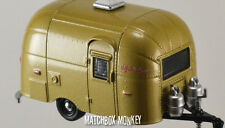Gold Anodized Airstream Bambi Camper Trailer Christmas Ornament Wally Byam 1/64
