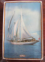 Vintage Yankee Clipper Sailboat Yacht Schooner Poster Wall Art Hanging 18x12