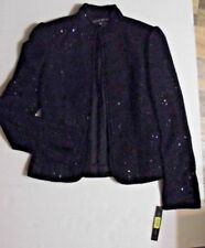 NWT Antonio Melani Women's Black Sequin Jacket Rock 'N' Roll size 2