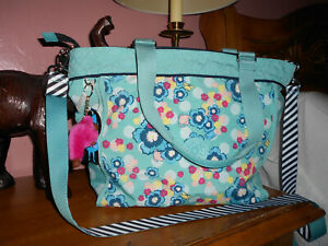 NWT Tag Kipling Shoulder Bag Alice In Wonderland Disney Tea Party multicolor