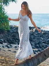 NWOT Athleta Stripe Wayfinder Dress, Chambray  SIZE 16   #215071 E414