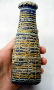 Antique Large Eastern Mediter Core-Forme Islamic Glass Vase perfume bottle