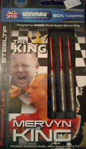 MERVYN KING  THE KING  STEEL TIP DARTS 24 GRAM  90%TUNGSTEN WINMAU