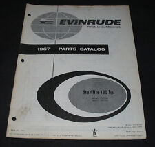 Parts Catalog Evinrude Starflite 100 HP Models 100782A + 100783A Stand 1967!