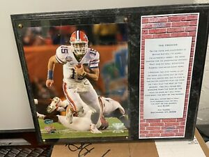 """Tim Tebow """"The Promise"""" plaque"""